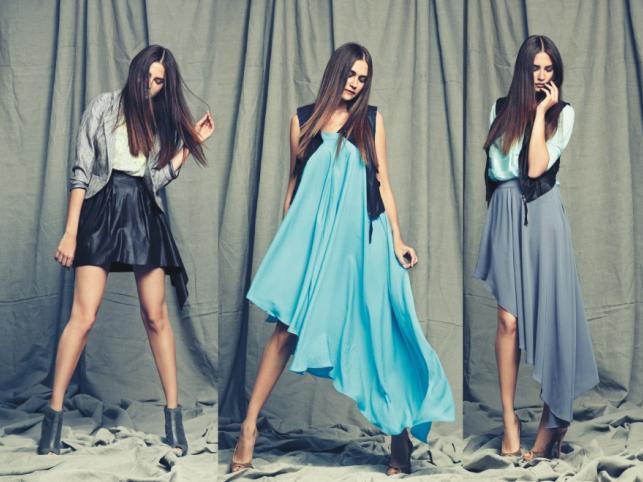 Modne zabawy długością - kolekcja Vero Moda wiosna 2012.