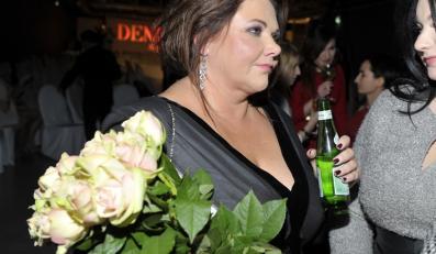 Katarzyna Niezgoda na pokazie kolekcji wiosna/lato 2012 Deni Cler Milano.