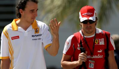 Robert Kubica i Fernando Alonso