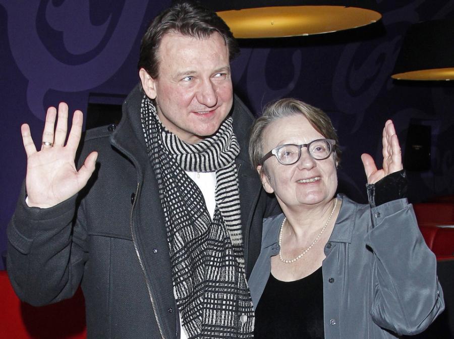Agnieszka Holland i Robert Więckiewicz na premierze \