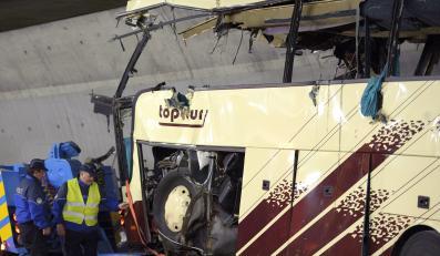 Belgijski autokar z dziećmi, który rozbił się w Belgii