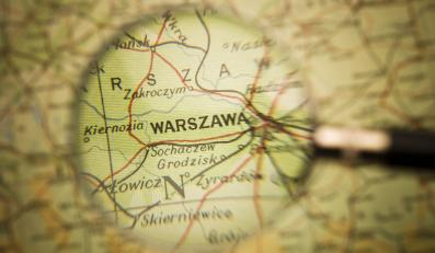 Warszawa i Polska na mapie