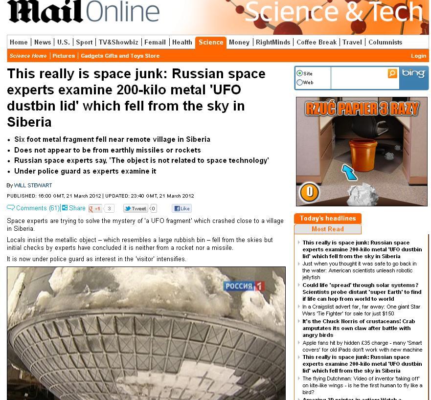 Tajemniczy obiekt na Syberii
