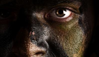 komandos twarz żołnierz