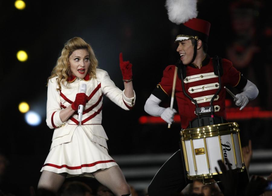 Madonna podczas koncertu w Kijowie