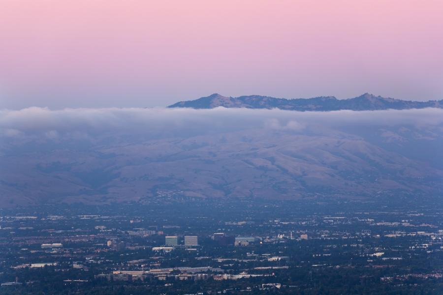 Panorama San Jose - stolica Doliny Krzemowej