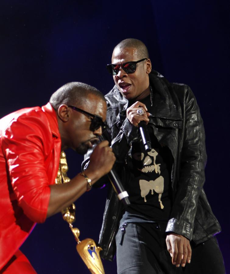Jay-Z z Kanye Westem na scenie