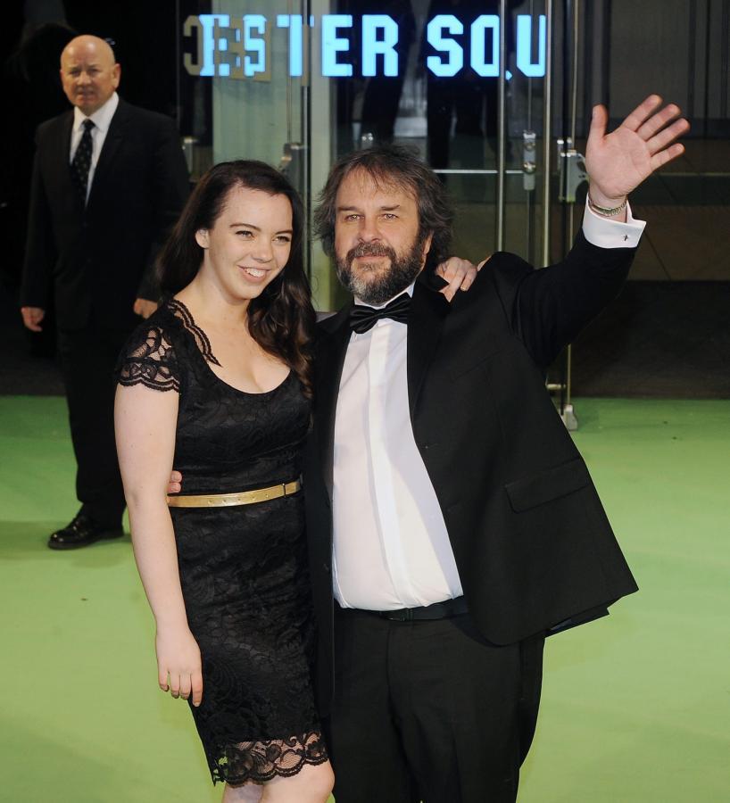 Peter Jackson z córką na premierze \