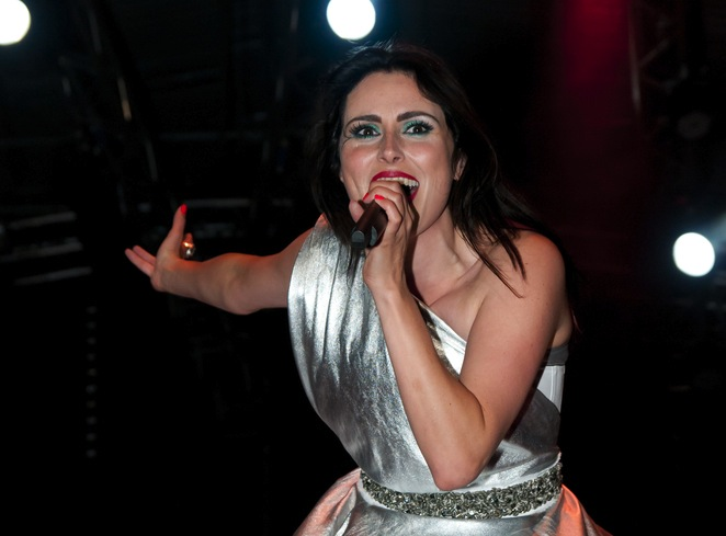 Within Temptation podczas koncertu w Jarocinie