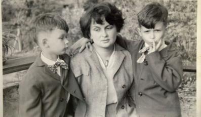 Jadwiga Kaczyńska z dziećmi