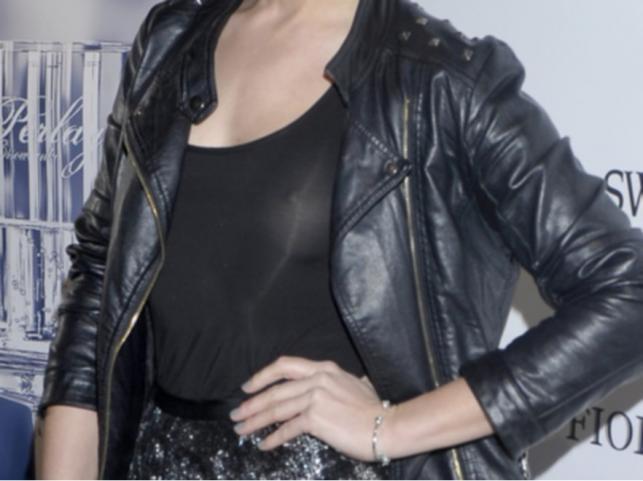 Prześwitująca bluzka Zofii Ślotały