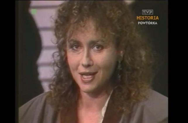 Joanna Szczepkowska ogłasza koniec komunizmu