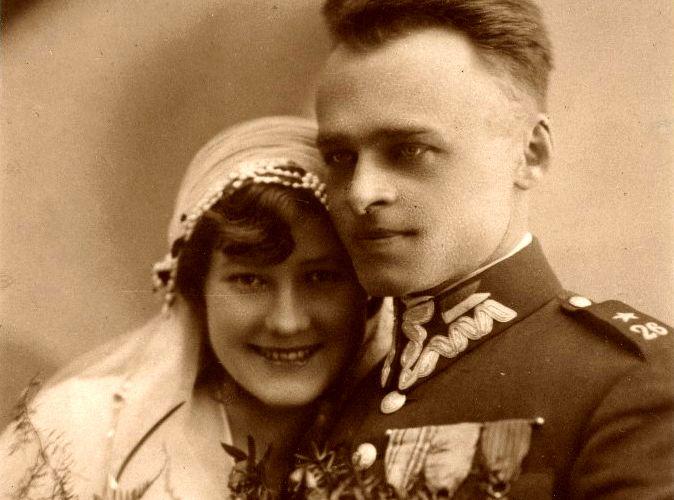 Witold Pilecki z żoną Marią
