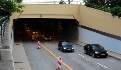 Otwarty tunel Wisłostrady