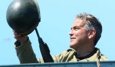 "George Clooney na planie ""The Monuments Men"""