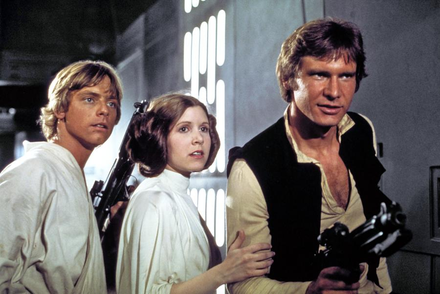 Mark Hamill, Carrie Fisher i Harrison Ford