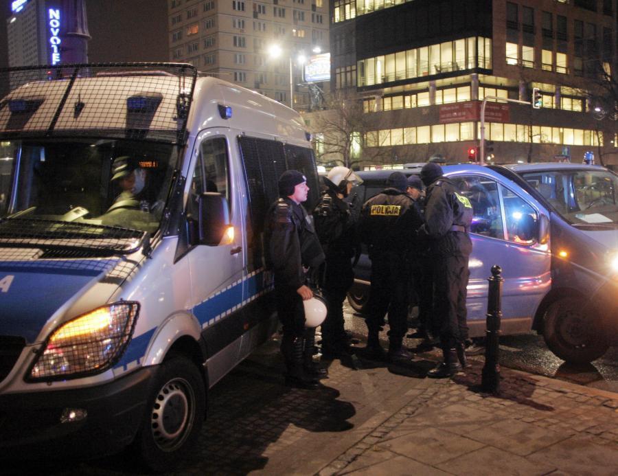 Kibice Lazio Rzym zatrzymani przez policję w Warszawie