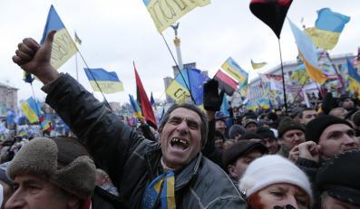 Ukraina milicja Majdan Chreszczatyk