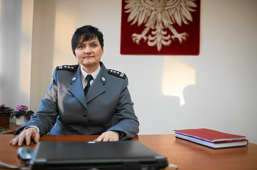 Inspektor Irena Doroszkiewicz, komendant wojewódzka policji w Opolu