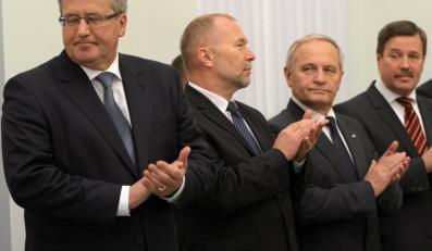 Bronisław Komorowski w Pałacu Prezydenckim