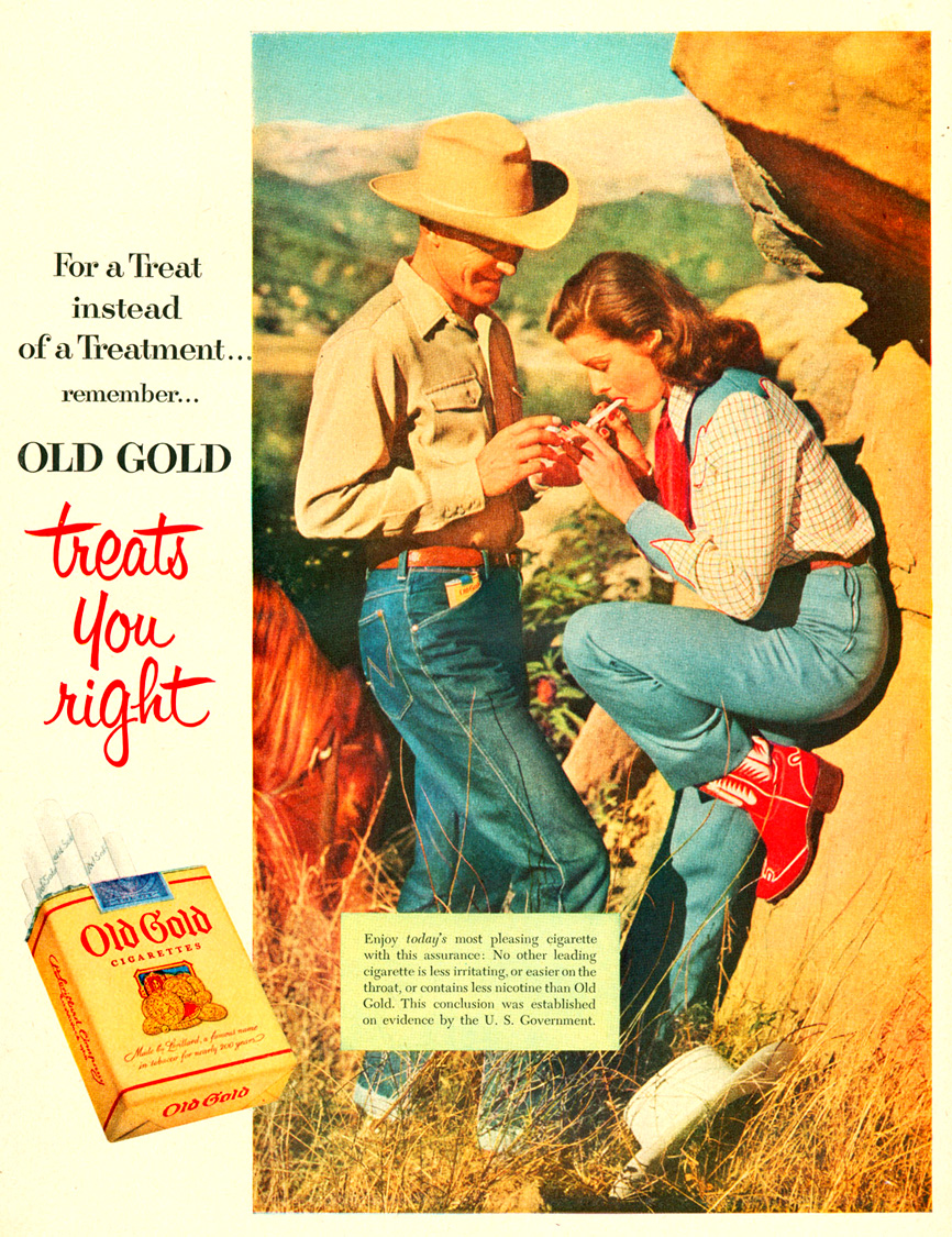 "Papierosy ""Old Gold"", rok 1953"