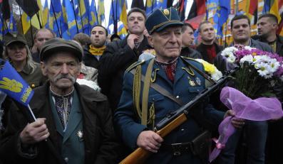 """Demonstracja ukraińskich nacjonalistów z partii """"Swoboda"""""""