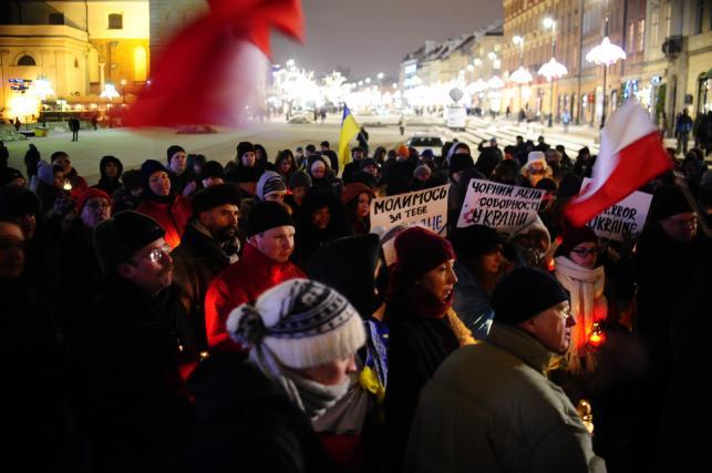 Manifestacja Solidarni z Ukrainą