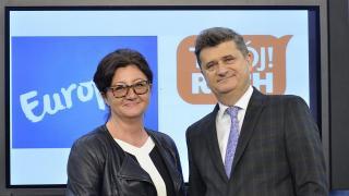 Dorota Gardias i Janusz Palikot