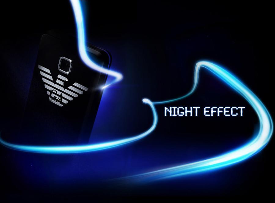 Telefon Emporio Armani seksowny nocą
