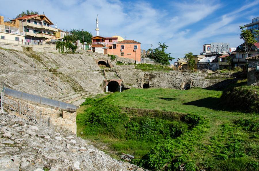 zabytki Durres, Albania