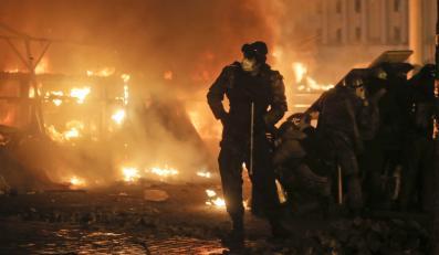 Krwawe starcia na Majdanie