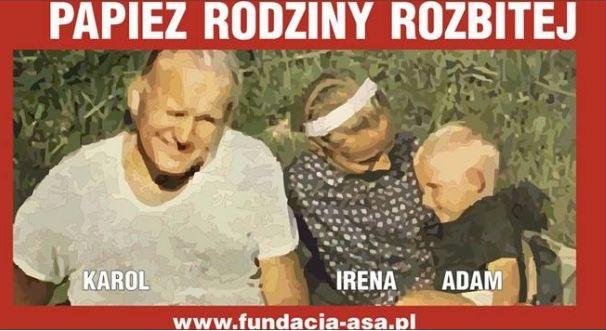 Karol Wojtyła na plakacie Fundacji Ateizm-Świeckość-Antyklerykalizm