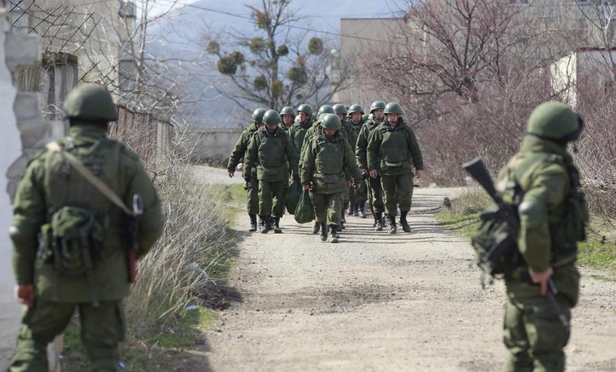 Nieoznakowani rosyjscy żołnierze na Krymie