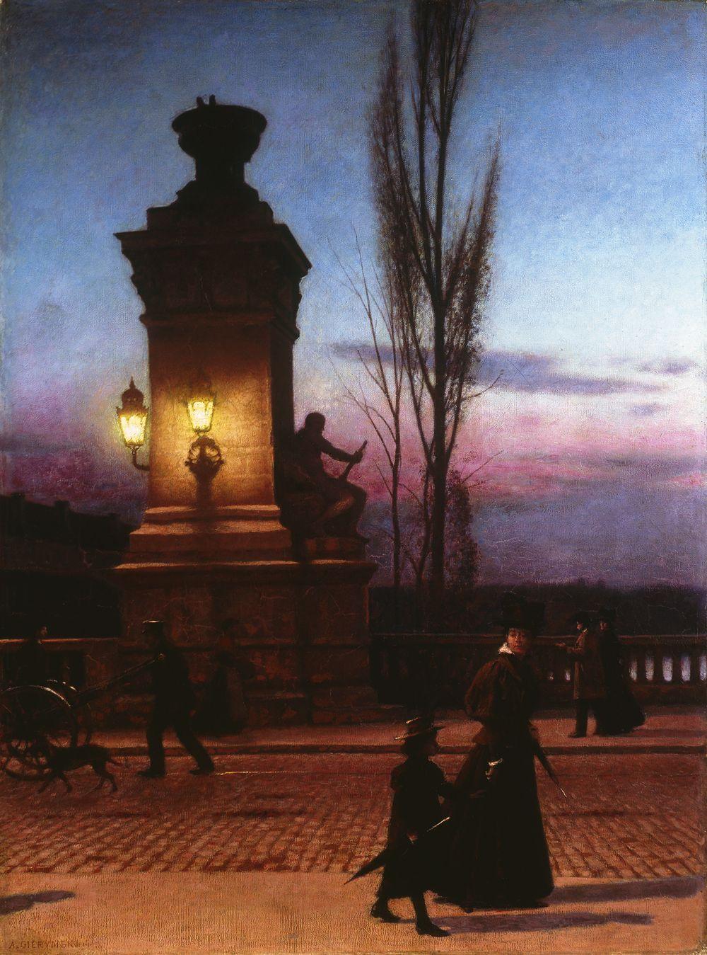 Most Ludwika w Monachium, 1896-1897, olej, płótno, 81,5 x 60,5 cm, MNW