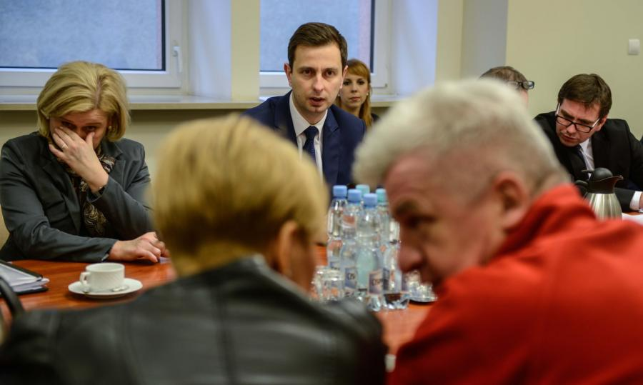 Spotkanie Władysława Kosiniaka-Kamysza z opiekunami niepełnosprawnych