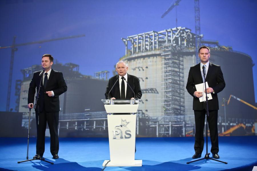 Adam Hofman, Jarosław Kaczyński i Dawid Jackiewicz