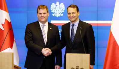 Szefowie MSZ Kanady i Polski