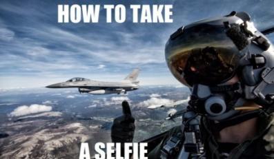 Selfie z odrzutowca