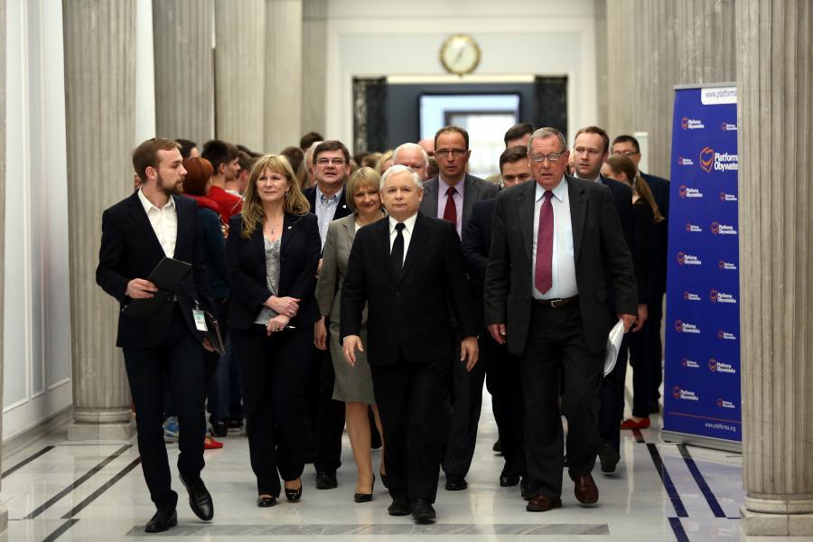 Jarosław Kaczyński i współpracownicy
