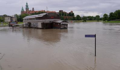 Stan wody na Wiśle w sobotę w Krakowie