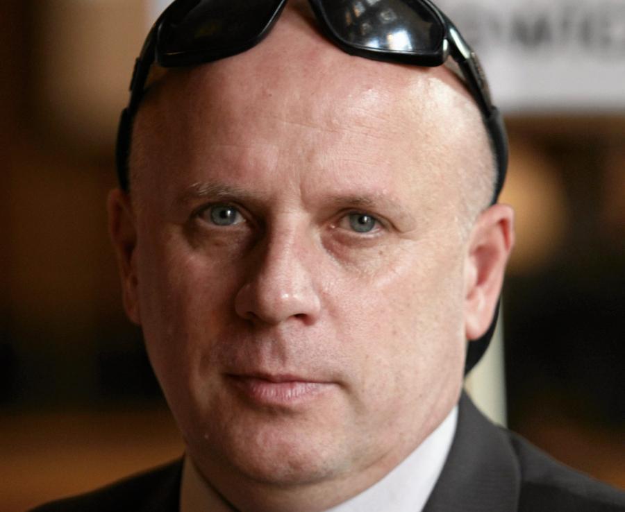 Pułkownik Jaroslaw Kaczyński na konwencji wyborczej Andrzeja Zybertowicza