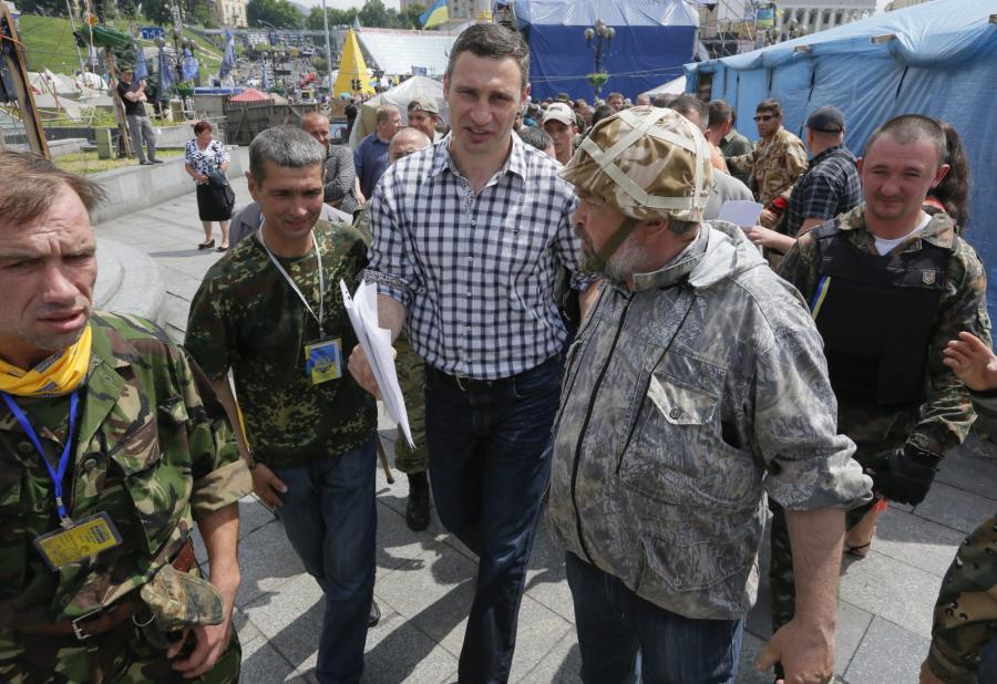 Witalij Kliczko na Majdanie