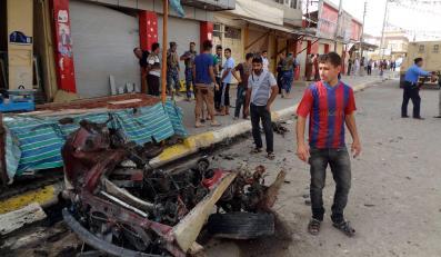 Zamach bombowy w Kirkuku w Iraku. Wybuchła ciężarówka