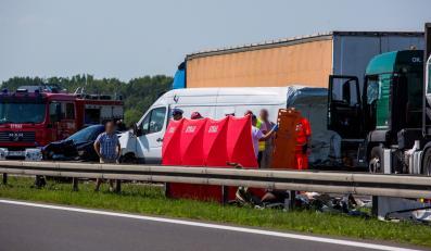 Karambol na autostradzie A2