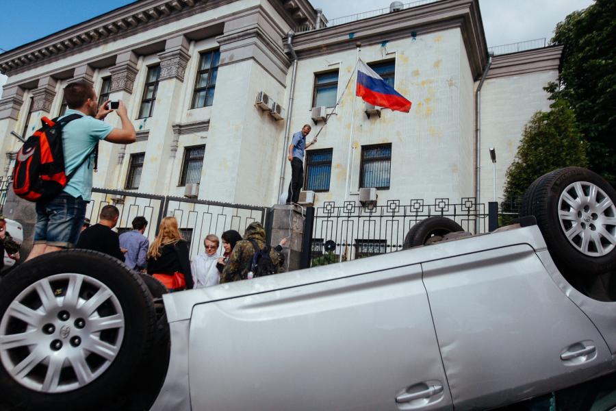 Antyrosyjska demonstracja w Kijowie