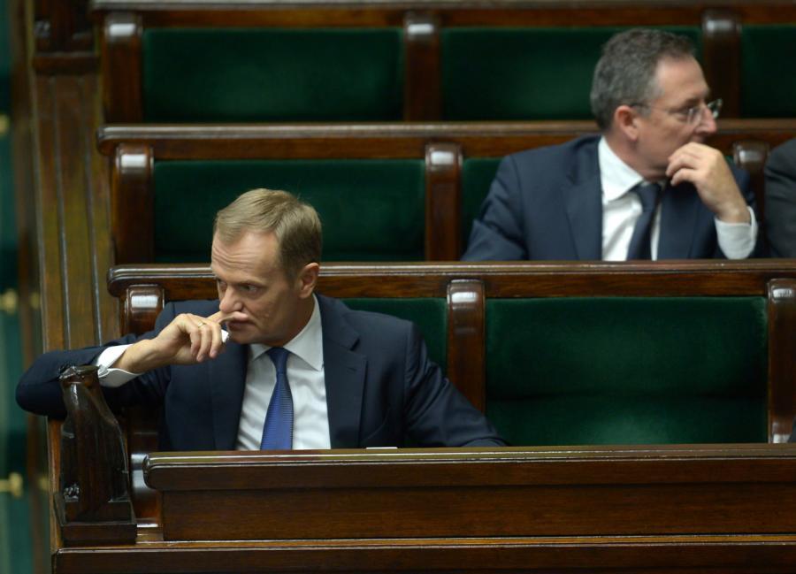 Donald Tusk i Bartłomiej Sienkiewicz