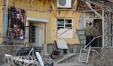 Ostrzelana kawiarnia w Kramatorsku
