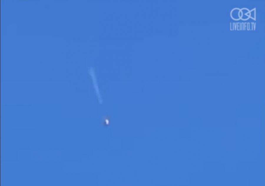 Wideo przedstawiające moment zestrzelenia ukraińskiego samolotu An-26