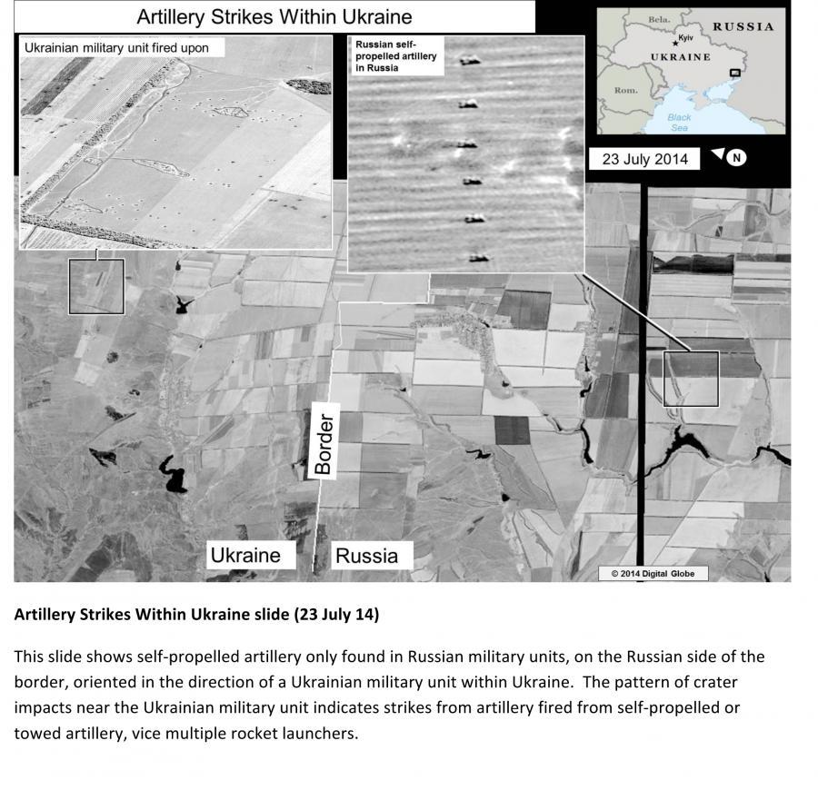 Rosjanie ostrzeliwują Ukraińców? Amerykański wywiad ujawnia zdjęcia satelitarne