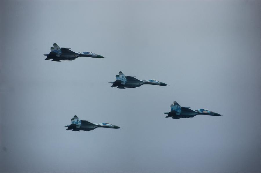 Formacja ukraińskich samolotów MiG-29